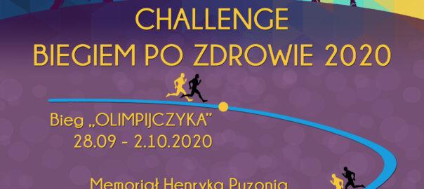 plakat Challenge biegiem po zdrowie 2020