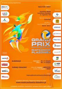 Plakat informacyjny Grand Prix w siatkówce plażowej
